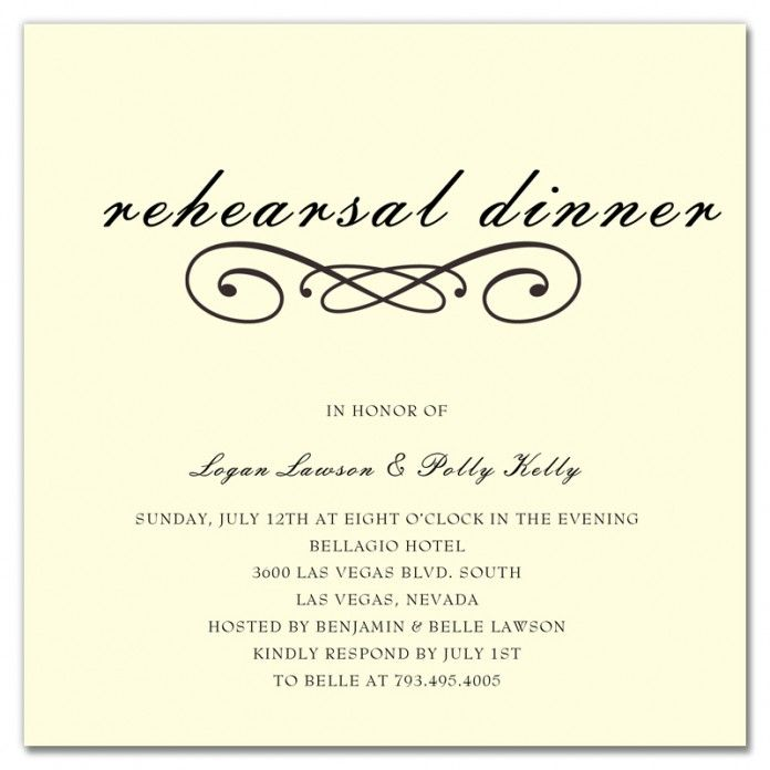 Wedding Rehearsal Invitations Templates: When Should Rehearsal Dinner Invitations Be Sent