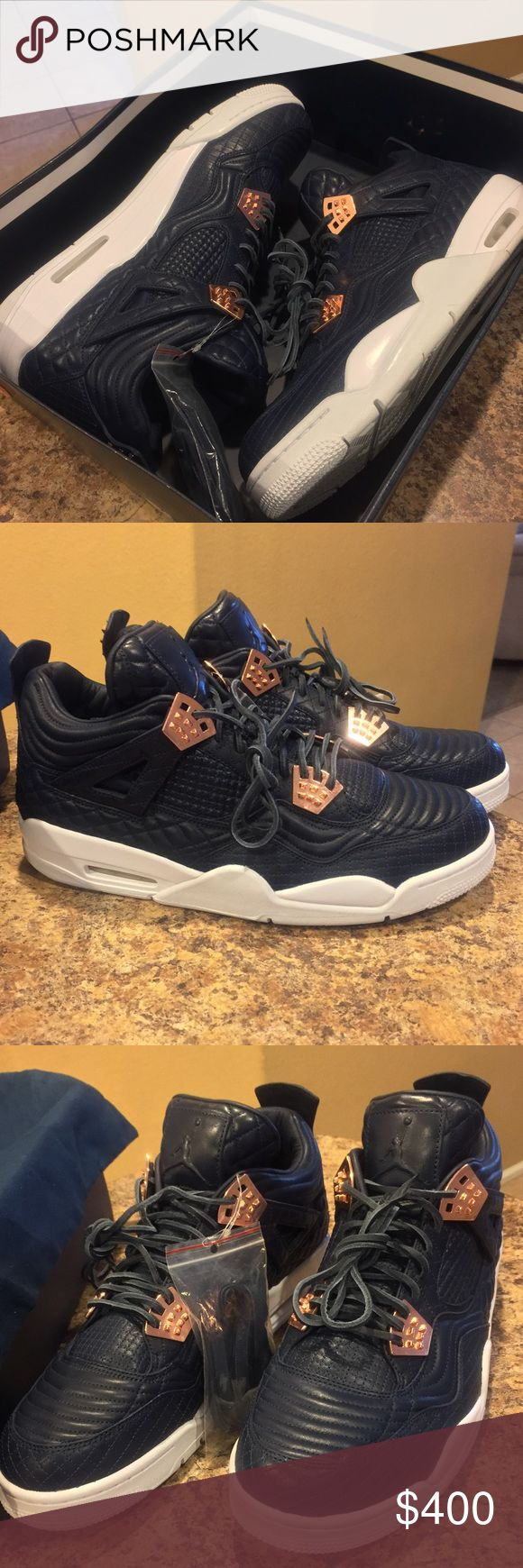 New! Jordan Retro 4 Premium size 14! This is a 100% authentic Jordan Retro 4 Premium in a men's size 14. Comes with box with no lid and no hang tag. Comes with dustbag and extra shoe laces. Serious buyers only! Jordan Shoes Athletic Shoes