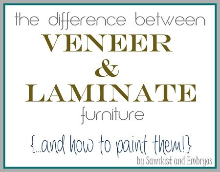 The difference between Laminate and Wood Veneer... and how to PAINT them! {Sawdust and Embryos}