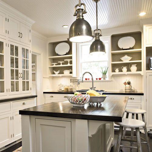 kitchen/ceiling & brown paint treatment