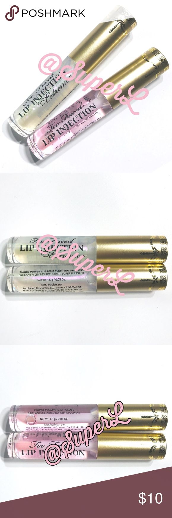 2/$15 Too Confronted Lip Excessive Injection Plumper Journey TOO FACED Lip Injection Lip…