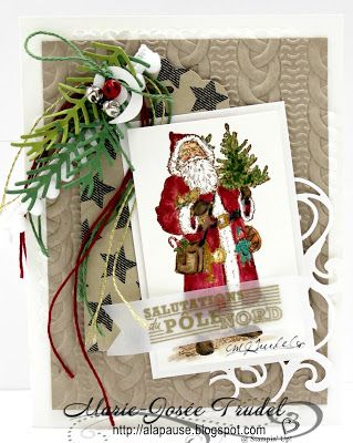 A La Pause: Stampin' Up! International Blog Hop - Father Christmas                                                                                                                                                                                 More