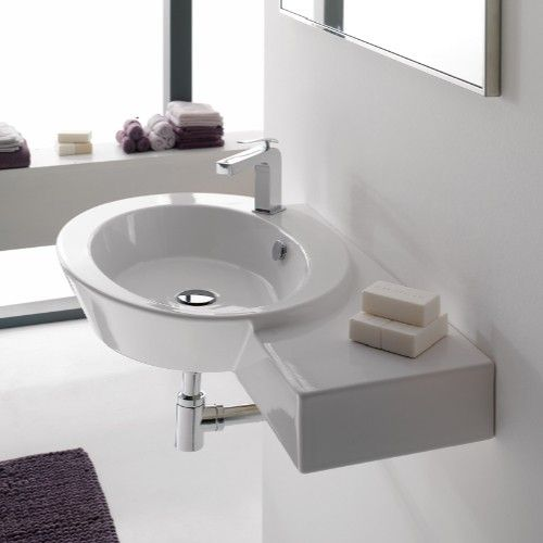 Wish Wall-Mounted Sink with Side Shelf