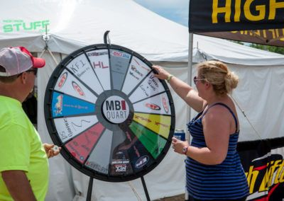 Attendees wouldn't have to go home empty handed, aside from freebies passed out by OEMs and aftermarket vendors, there were several opportunities throughout the day, each day, to line up at the MB Quart Prize Wheel and give it a spin for a chance to win a prize from participating vendors. Read more at https://PrizeWheel.com/blog/.