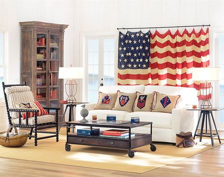 Patriotic Home Decor That Curtain Absolutely Fits My Dining Room