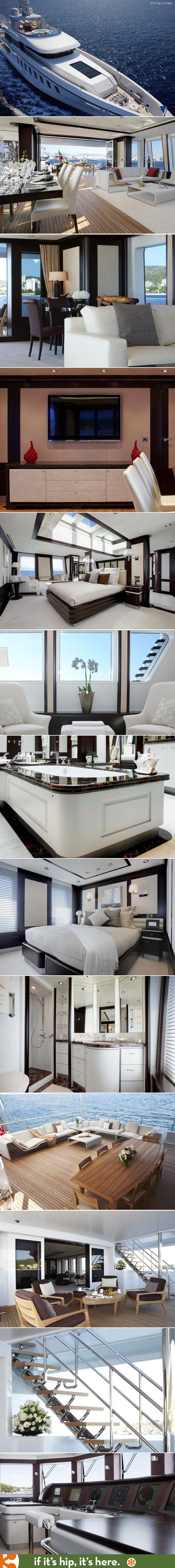The Helix Yacht and it's incredibly decorated interior.  More at http://www.ifitshipitshere.com/147-foot-luxury-yacht-with-an-incredible-interior-the-helix-yacht-from-feadship/