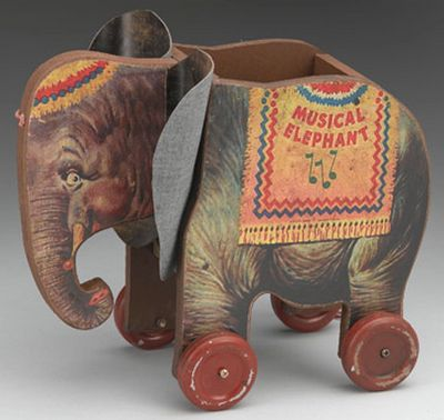 Vintage elephant toy. Learn about your collectibles, antiques, valuables, and vintage items from licensed appraisers, auctioneers, and experts. http://www.bluevaultsecure.com/roadshow-events.php BlueVault. For anything Valuable.