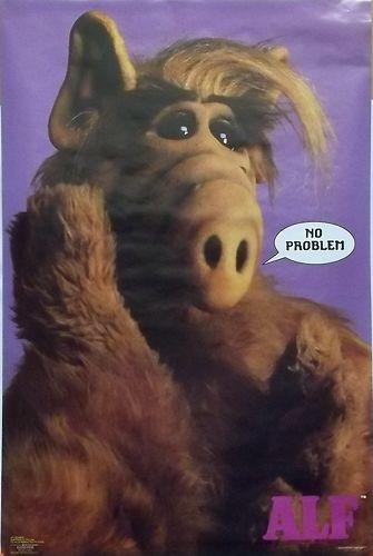 ALF TV Series 23x35 No Problem Poster 1986 Jerry Stahl