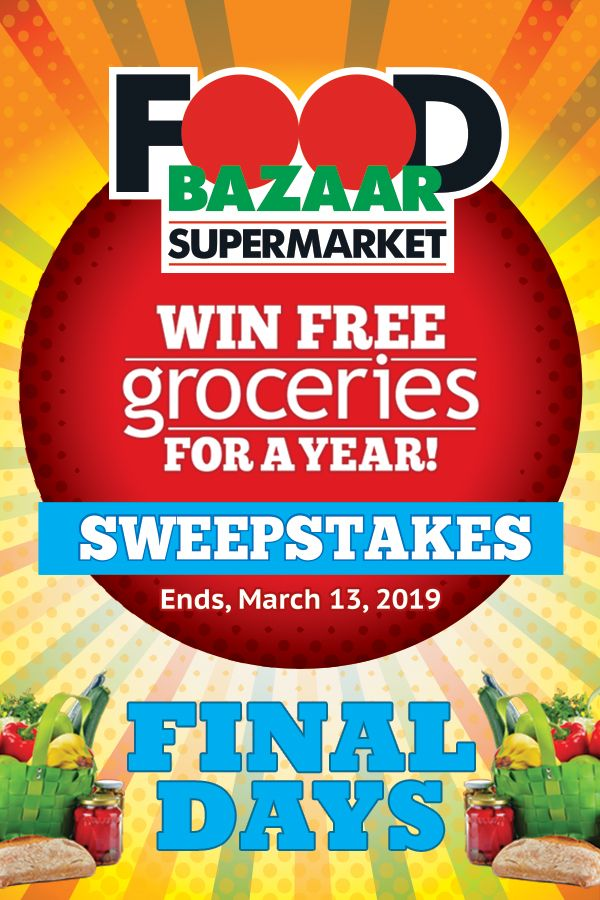 Don't miss your chance to win FREE Groceries for a Year