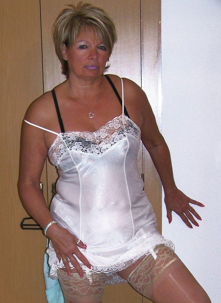 Mature nylon slips all charm!