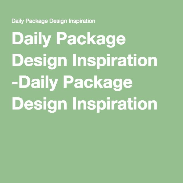 Daily Package Design Inspiration -Daily Package Design Inspiration  