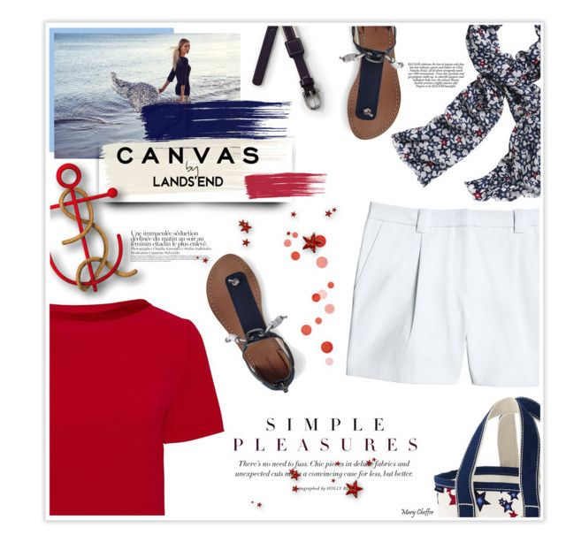 """""""Paint Your Look With Canvas by Lands' End: Contest Entry"""" by mcheffer ❤ liked on Polyvore featuring Canvas by Lands' End and Lands' End"""