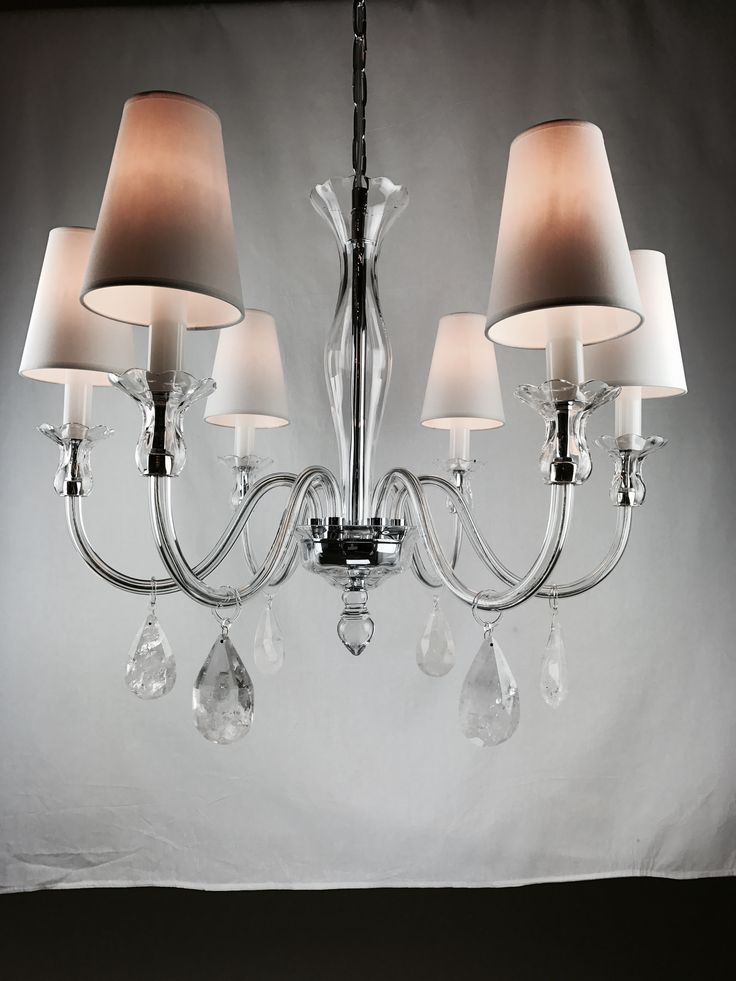 Amela 6 weisberg rock crystal chandelier