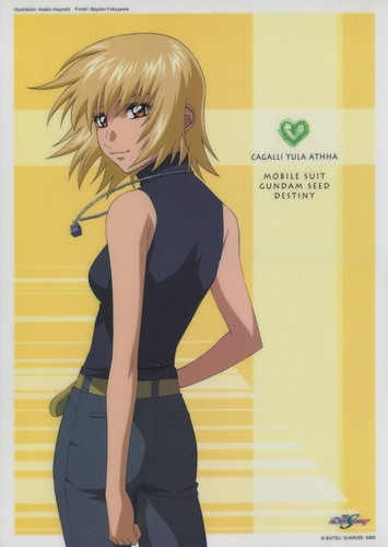 Gundam Seed Destiny plastic poster official Japan Cagalli Yula Athha