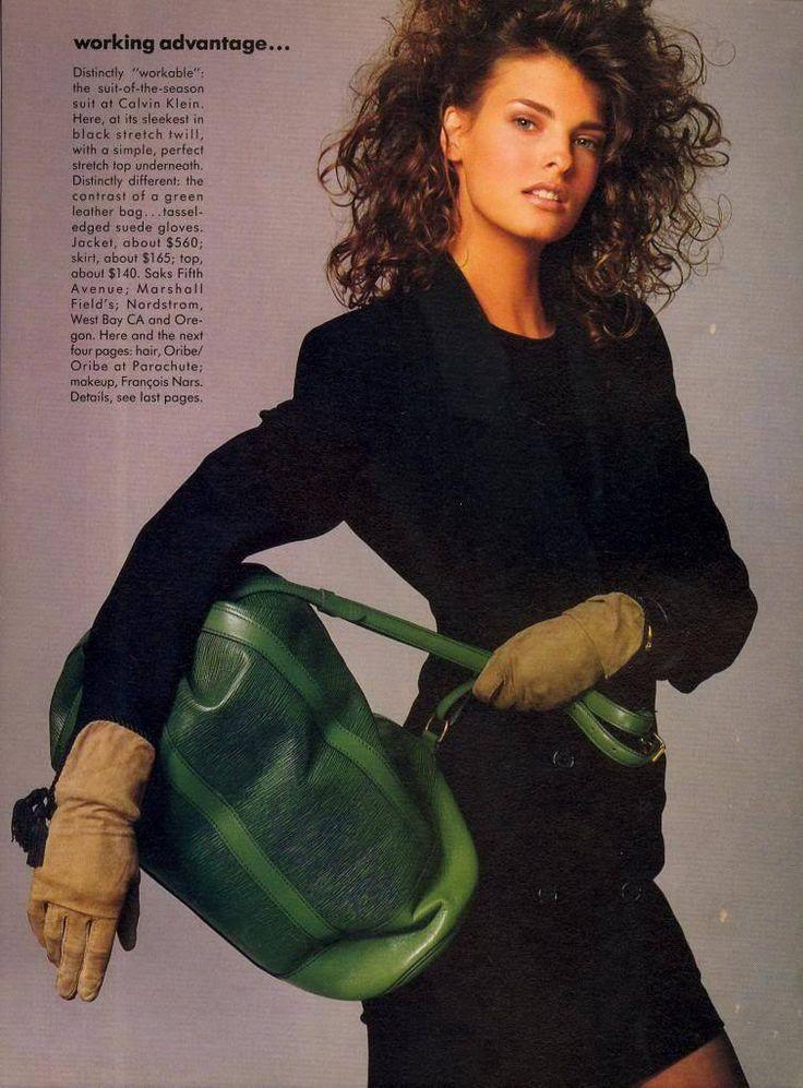 A New Working Advantage - Vogue US (1987) Linda Evangelista by Meisel