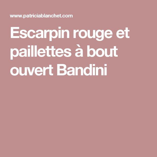 Escarpin rouge et paillettes à bout ouvert Bandini