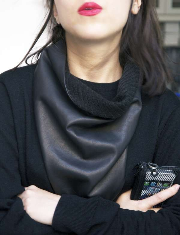 Soft Leather Accessories - The Luxirare Leather Scarf Makes it Cool to Be Warm (GALLERY)