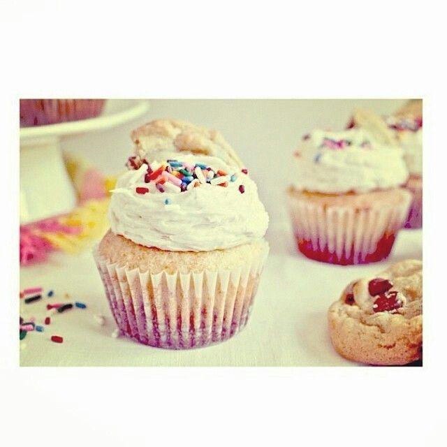 Sprinkled cupcake