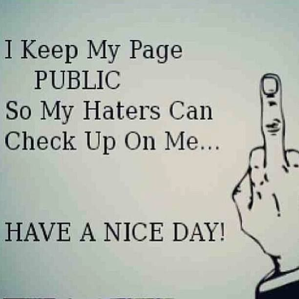 Awww blocked your twofaced ass on facebook??? Keep stalking & reading .... You may eventually learn sumthin
