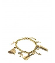 Gold Music Charm Bracelet: Gold Music, Charm Bracelets, Music Charms, Charms Bracelets