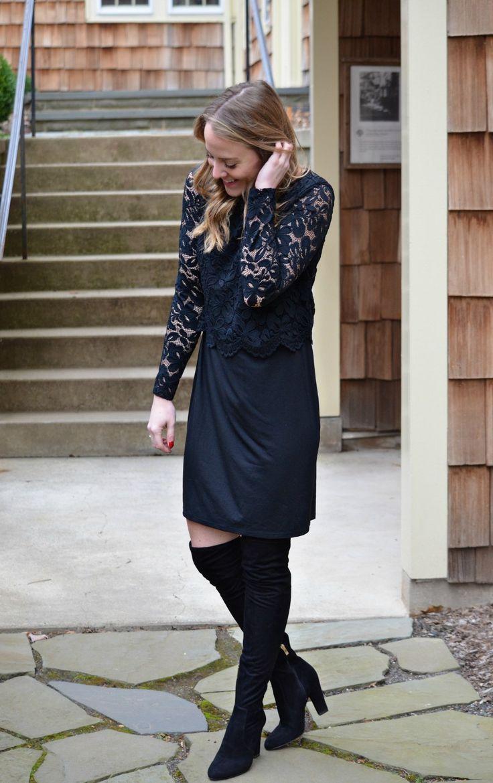 J jill black dress 22 24