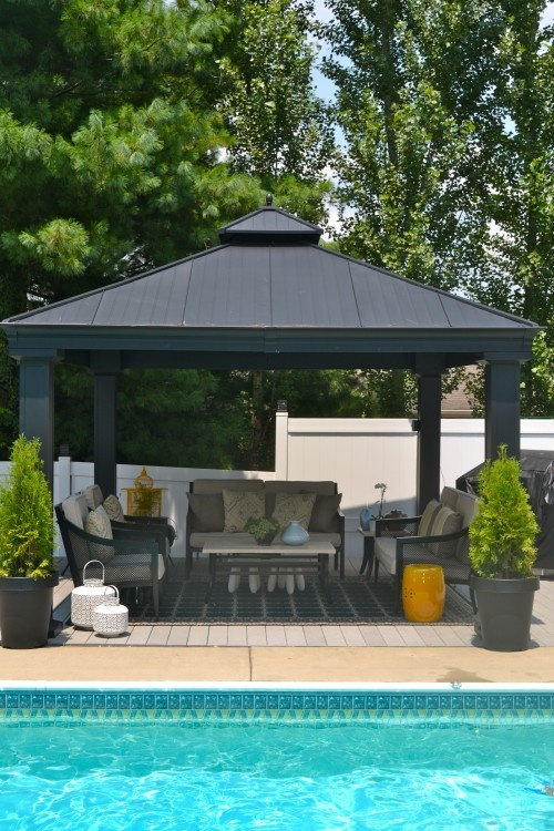 78 Images About Hot Tub On Pinterest Patio Shelters