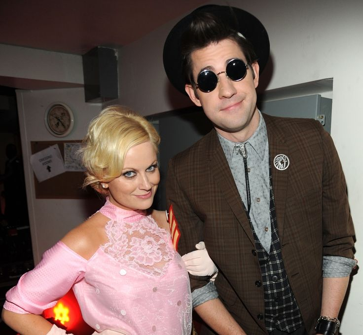 Amy Poehler and John Krasinksi as Andy and Duckie from Pretty in Pink.