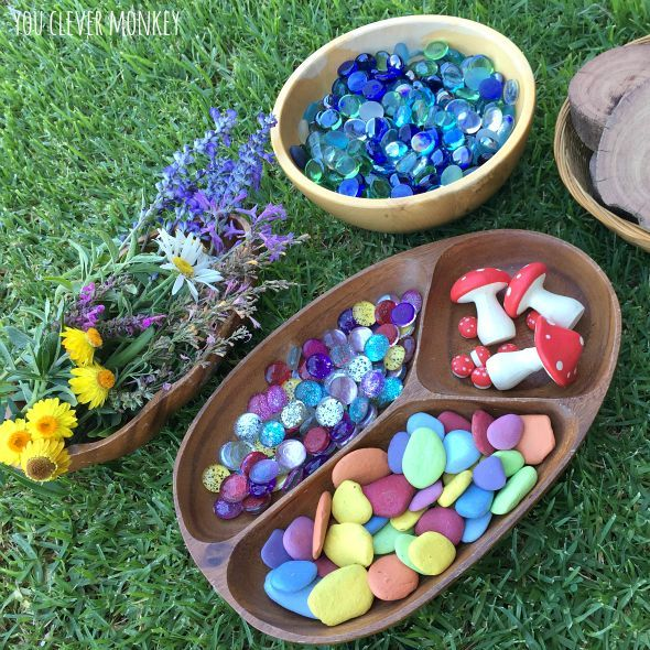 Fairy Garden Play - create this simple invitation for fairies and their friends to come and play at your house! Easy to set up, easy to change and then change again! Kid approved   you clever monkey