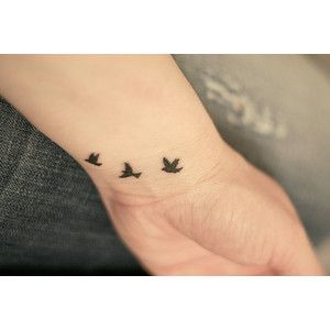 Cool Wrist Tattoo - I'm leaning more towards this...one bird for each kid