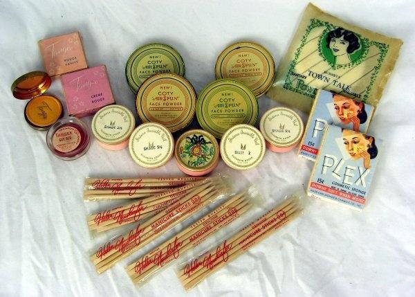 Vintage Lot 1920's Ladies Cosmetics