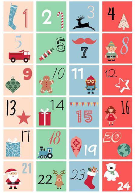 Números descargables e imprimibles para tu calendario del adviento | Manualidades