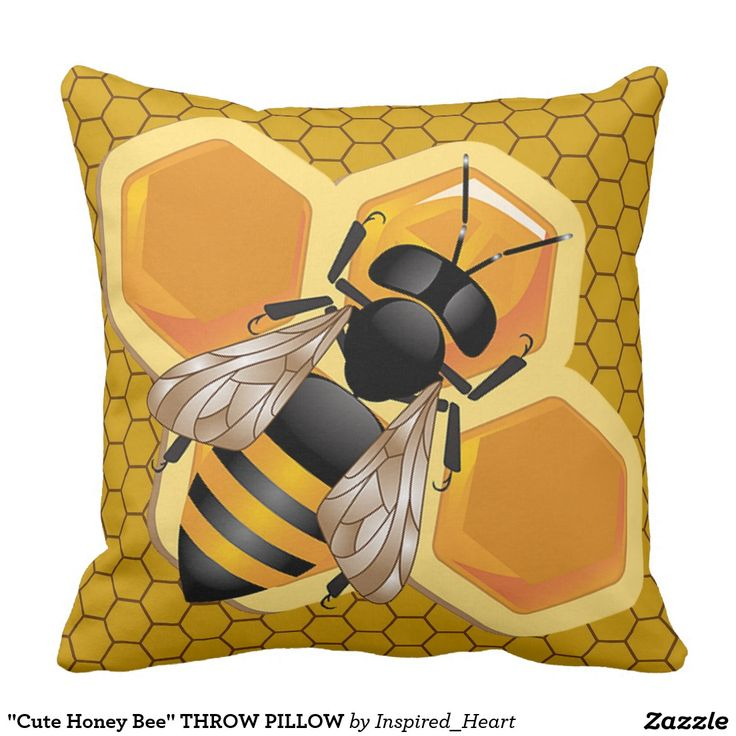 Cute Honey Bee THROW PILLOW NurseryNursery DecorHoney