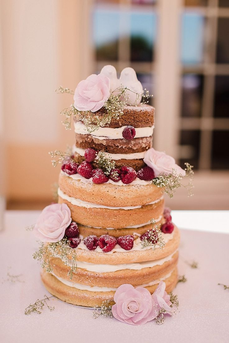 Naked Wedding Cake | Boho Beach Wedding in Portugal | Bridal Separates | Mis-Match Pastel Bridesmaid Dresses | Save The Date Tea Towels | Faye Cornhill Photography | http://www.rockmywedding.co.uk/kyria-kevin/
