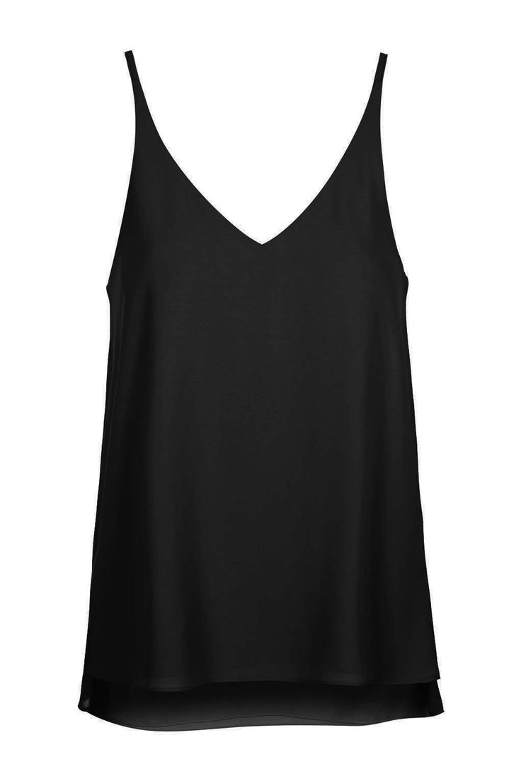 Perfect basic black tank in a sexy cut to show off your #wearAJD jewels. Plunge V-Neck Cami by Topshop
