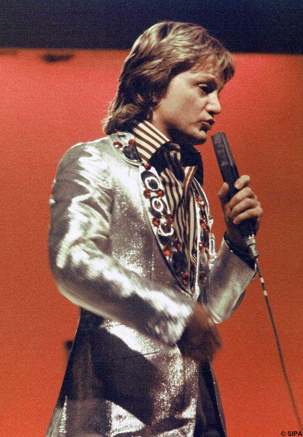 Claude François lors d'un concert en 1974