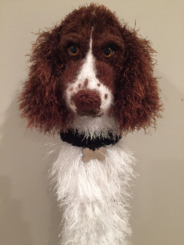 Handknit springer spaniel driver cover. | My Etsy Shop ...