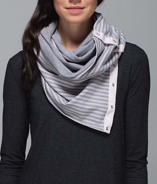 Lululemon Vinyasa scarf  Double Trouble Stripe Neutral Blush