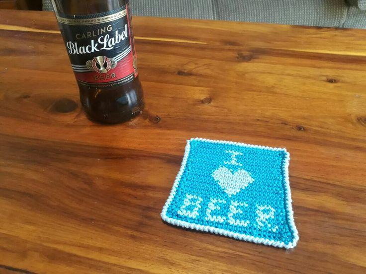 I Love Beer Coaster Free Pattern – Crochet Creations