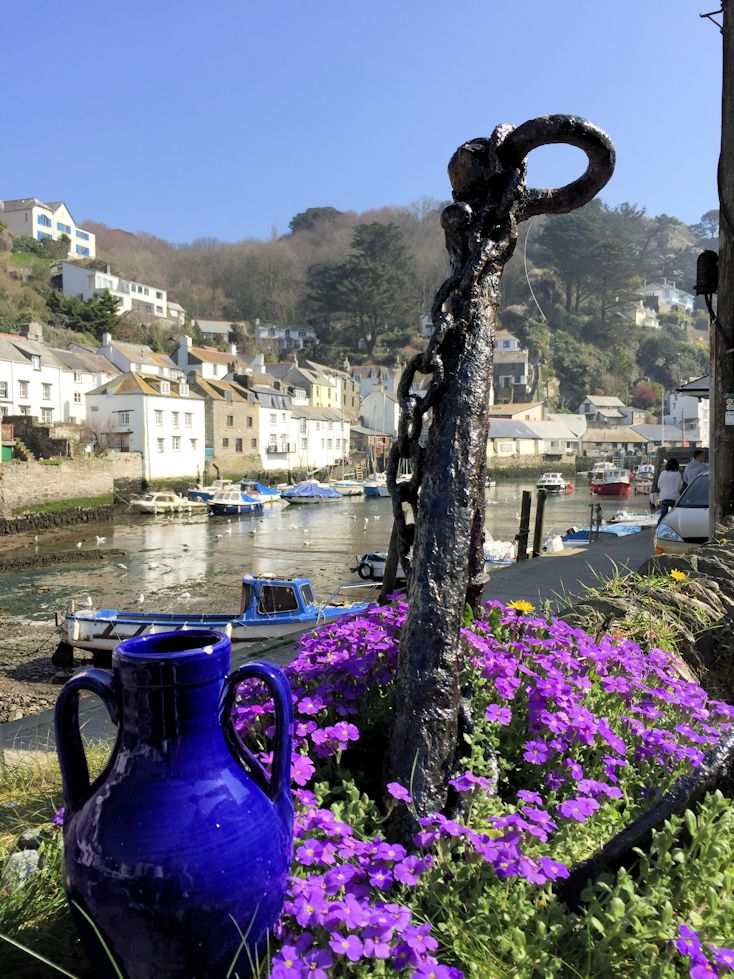 ༺❀ I know that Polperro is in Cornwall, but we often cross the Tamar for a walk down to the pub by the harbor.