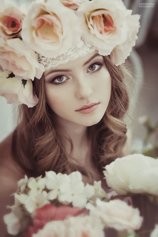 ❀ Flower Maiden Fantasy ❀ women & flowers in art fashion photography - roses…