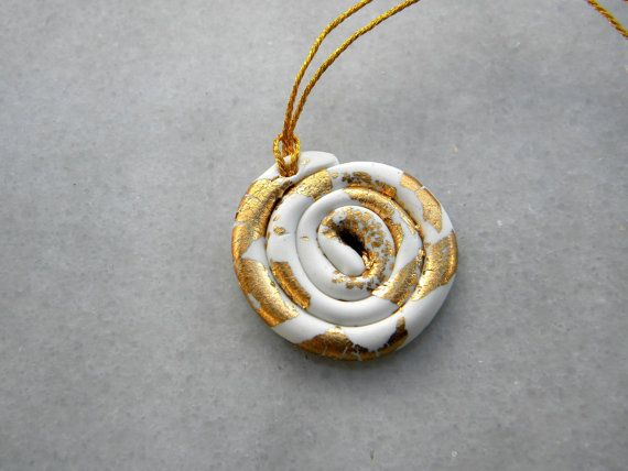 White gold polymer pendant christmas gold jewellery by prosinemi