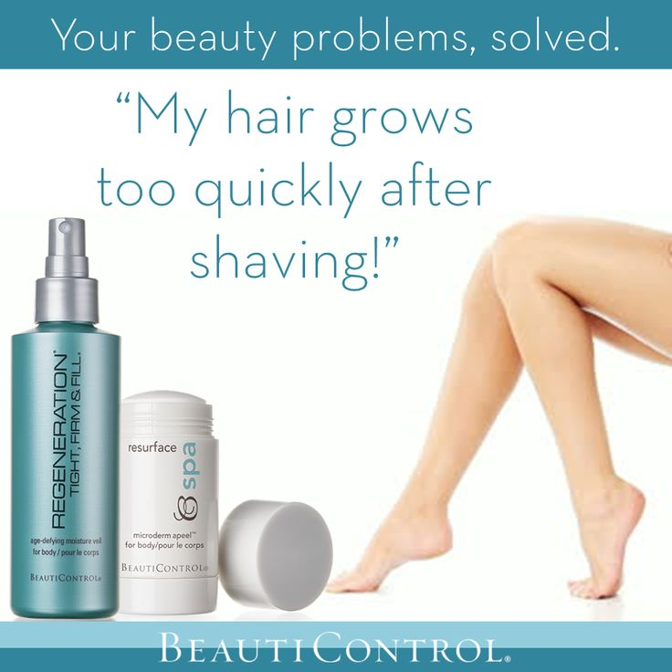 "Your beauty problems, solved! ""My hair grows too quickly after shaving!"" Click through to find out how to avoid this hair-raising issue..."