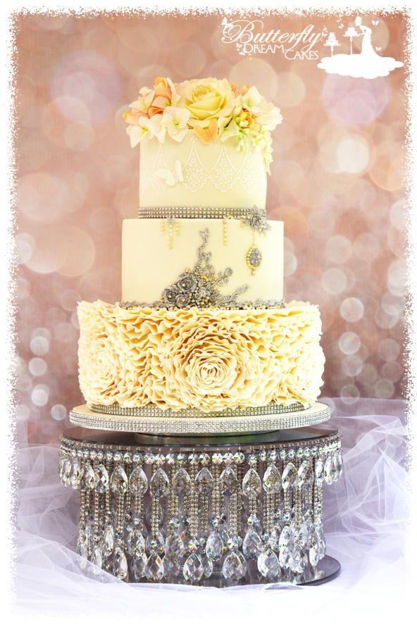 72 best Wedding cakes images on Pinterest Wedding cakes