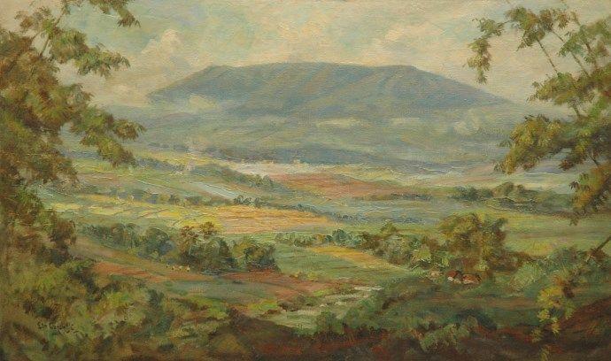 Ernest Dezentjé (Jatinegara (Nederlands-Indië) 1884-1972 Jakarta (Indonesië)) Landschap op Java