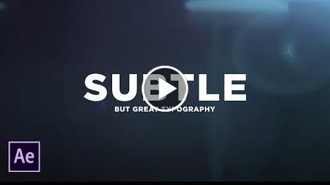 3 Ways to Create Subtle Animated Typography After Effects Tutorial http://videotutorials411.com/3-ways-to-create-subtle-animated-typography-after-effects-tutorial/ #Photoshop #adobe #lightroom #graphicdesign #photography