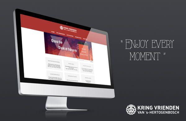 Kring Vrienden | Responsive Webdesign by Nikki van Dam & Boudewijn Naaijkens, via Behance