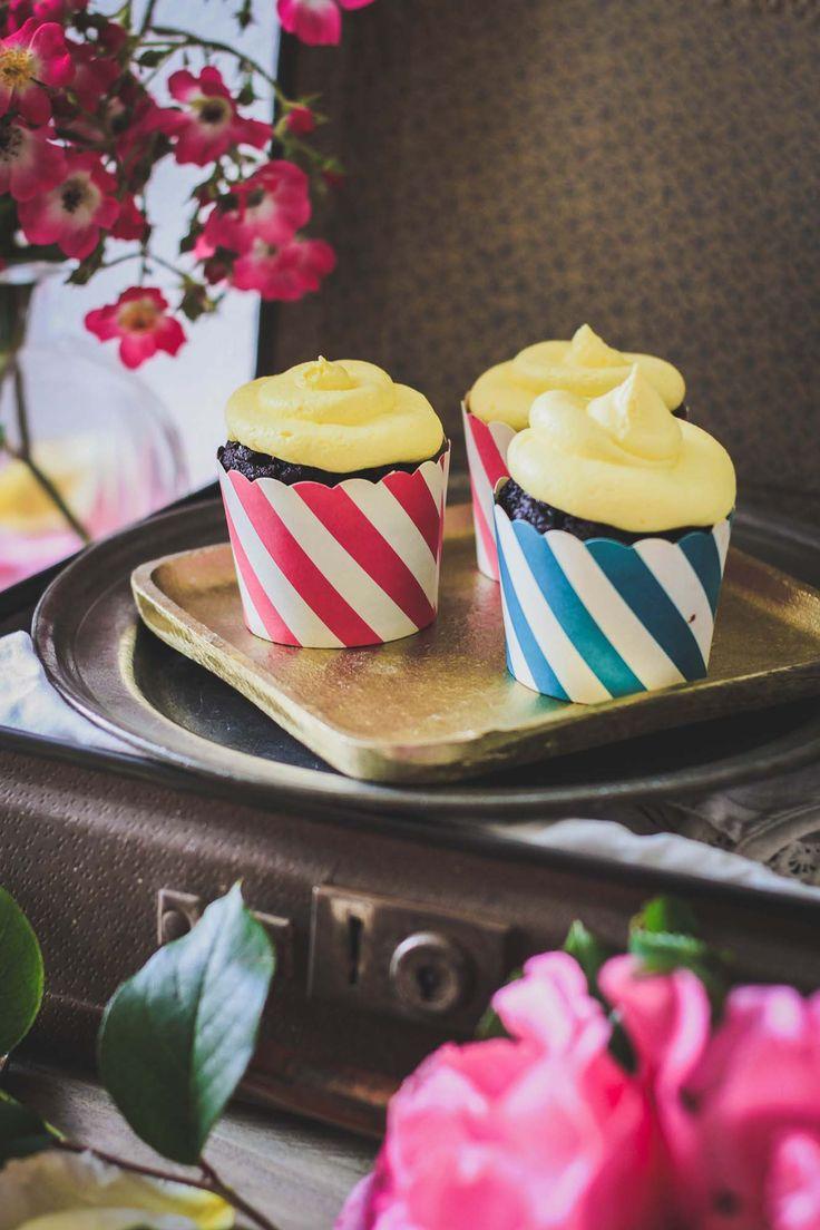 RECETTE Cupcakes chocolat citron #cupcake #chocolat #citron #chocolate #lemon #food #photography #foodphotography