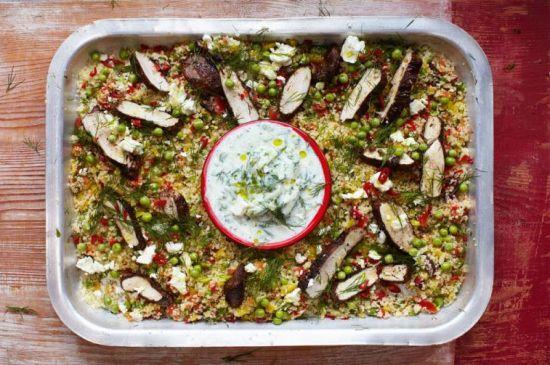 Jamie Oliver: Griekse kip met couscous