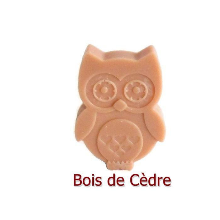 Fondant Parfumé Bois de Cèdre Aromathérapie Hiboux Chouettes Animaux Huile Essentielle Cire Végétale Fondant à brûler : Luminaires par fondants-de-cire-parfumes-fleur-artifice