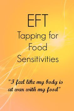 Today I'm sharing some ideas to use EFT to help with food sensitivities. There's a video included for you to tap along with.